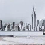 Decoración de pared disponible a través de Eurocuadro. Reportaje fotográfico de Nueva York. Foto de la obra en situ cortesía de Eurocuadro.